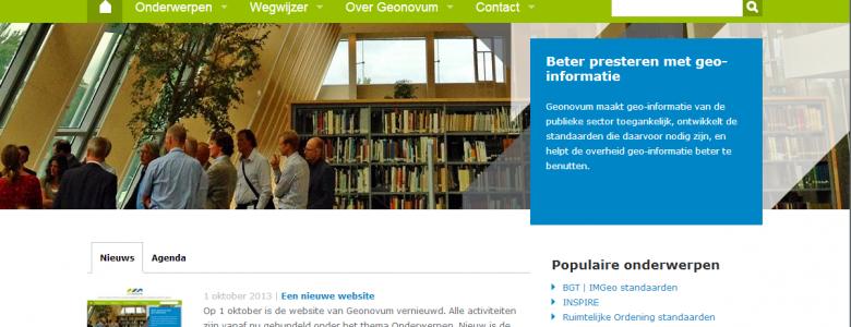 Website Geonovum - Geonovum maakt geo-informatie van de overheid toegankelijk en zorgt voor de standaarden die daarvoor nodig zijn.